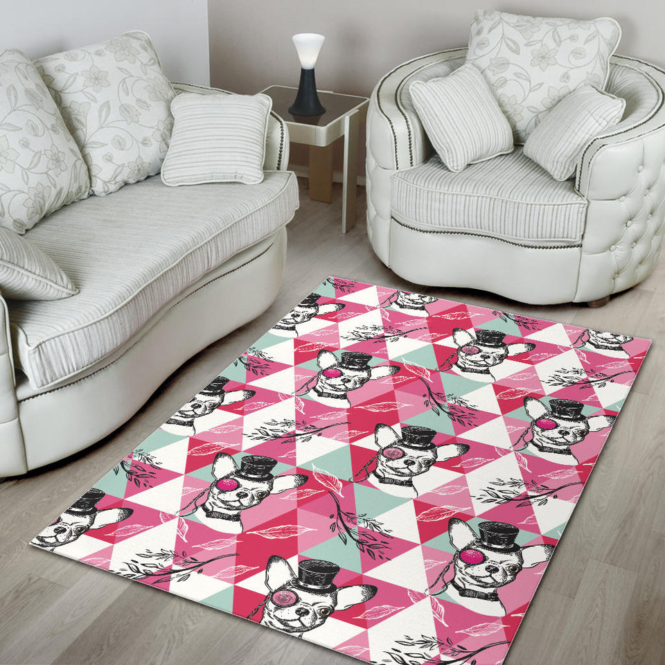 Cool Chihuahua Pink Pattern Area Rug