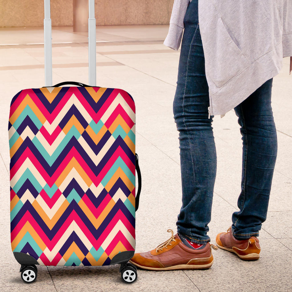 Zigzag Chevron Pattern Background Luggage Covers