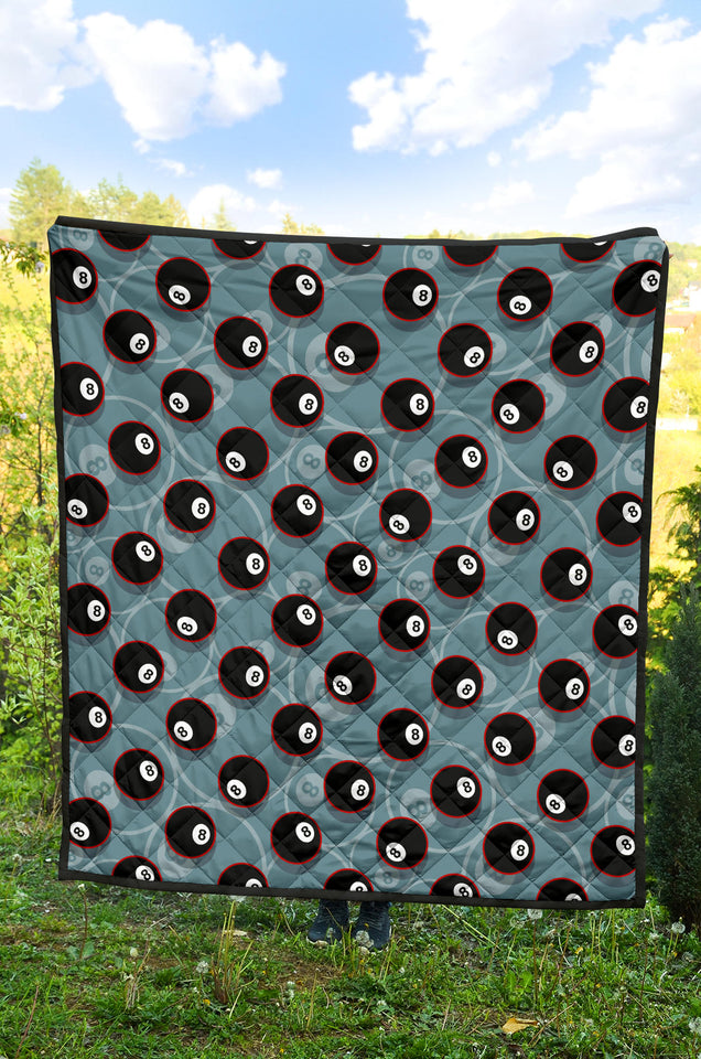 Billiard Ball Pattern Print Design 01 Premium Quilt
