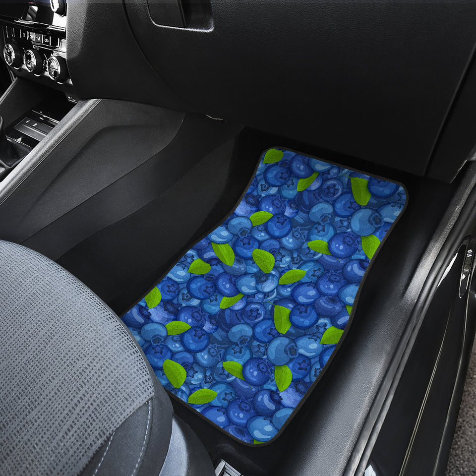 Blueberry Pattern Background Front Car Mats