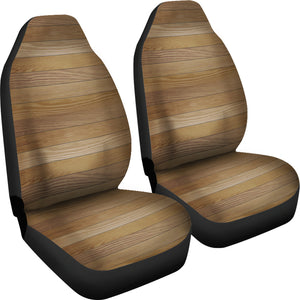 Wood Printed Pattern Print Design 02 Universal Fit Car Seat Covers