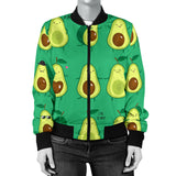 Cute Avocado Pattern Women Bomber Jacket