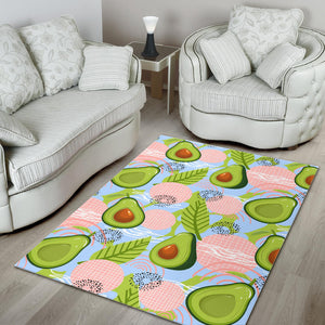 Avocado Pattern Theme Area Rug