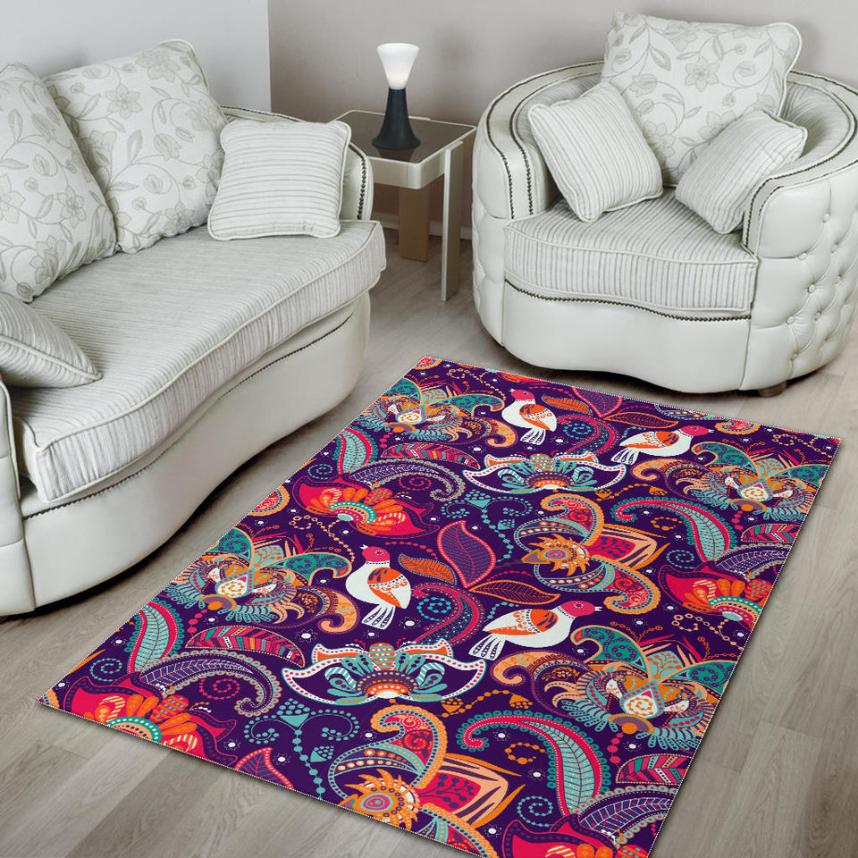 Indian Pattern Background Area Rug