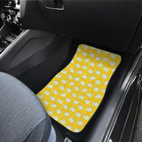 Garlic Pattern Yellow background Front Car Mats