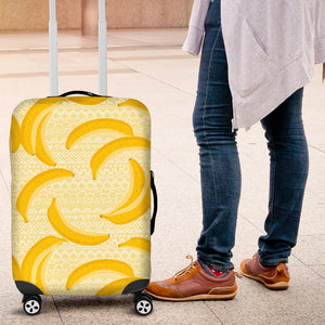 Banana Pattern Tribel Background Luggage Covers