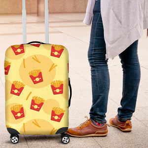 French Fries Pattern Background Luggage Covers