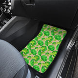 Broccoli Pattern Pink background Front Car Mats