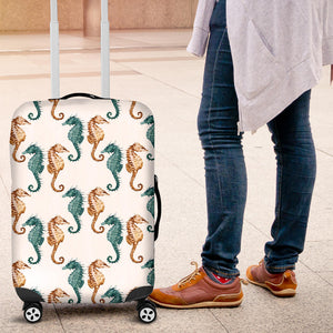 Seahorse Pattern Background Luggage Covers
