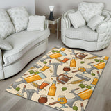 Beer Pattern Area Rug