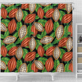 Cocoa Leaves Pattern Shower Curtain Fulfilled In US