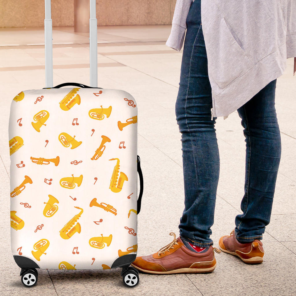Saxophone Pattern Theme Luggage Covers