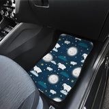 Sheep Playing Could Moon Pattern  Front Car Mats