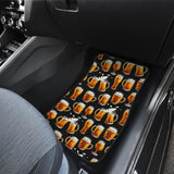 Beer Pattern Background Front Car Mats