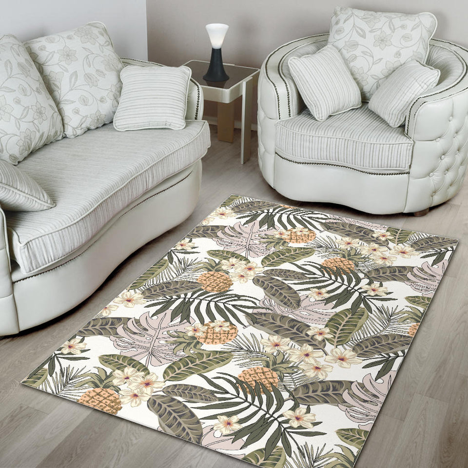 Pineapple Leave flower Pattern Area Rug