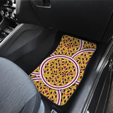 Passion Fruit Seed Pattern Front Car Mats