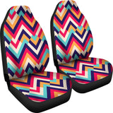 Zigzag Chevron Pattern Background Universal Fit Car Seat Covers