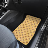 American Football Ball Pattern Yellow Background Front Car Mats