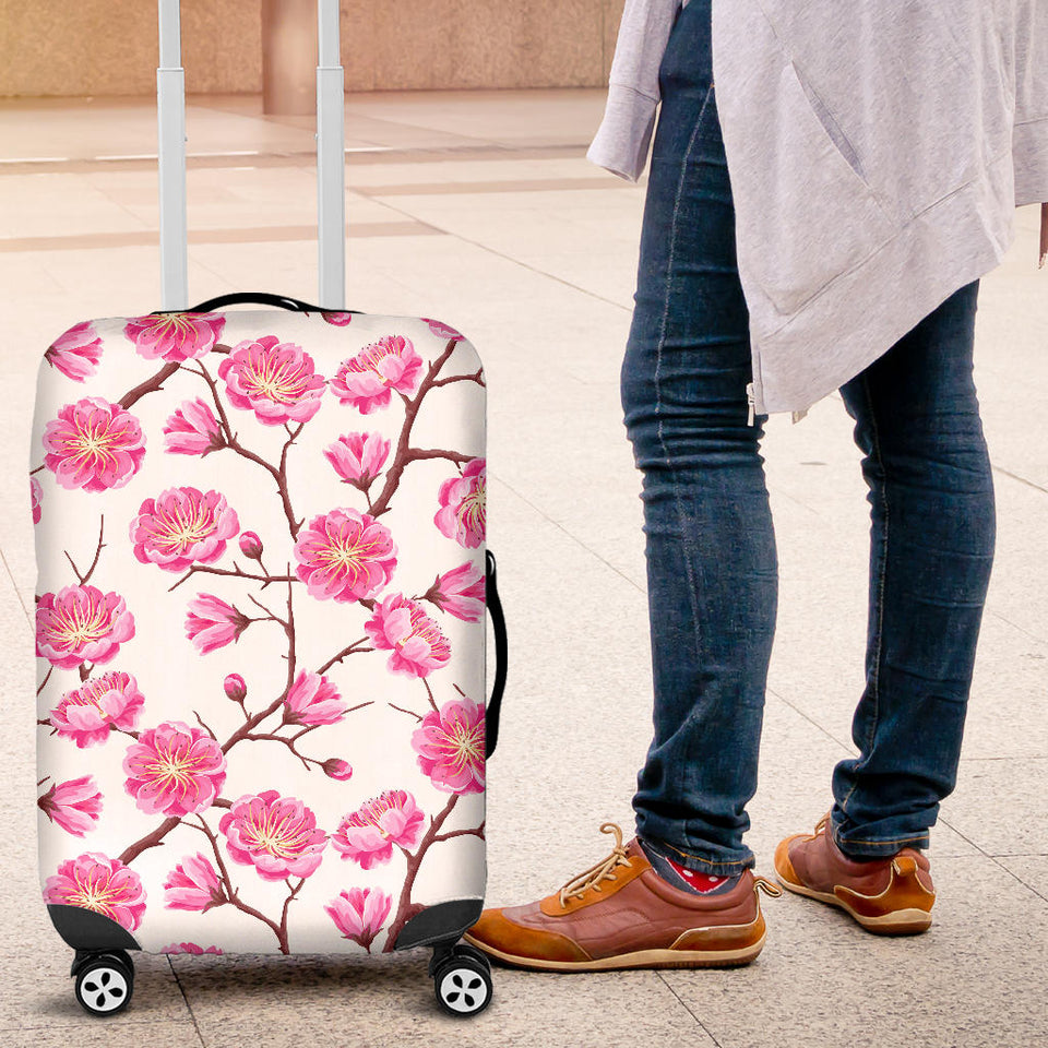 Pink Sakura Pattern Luggage Covers
