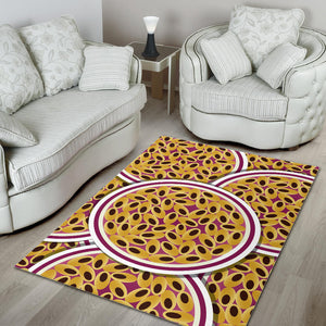 Passion Fruit Seed Pattern Area Rug