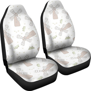 Windmill Pattern Background Universal Fit Car Seat Covers