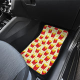 French Fries Pattern Theme Front Car Mats