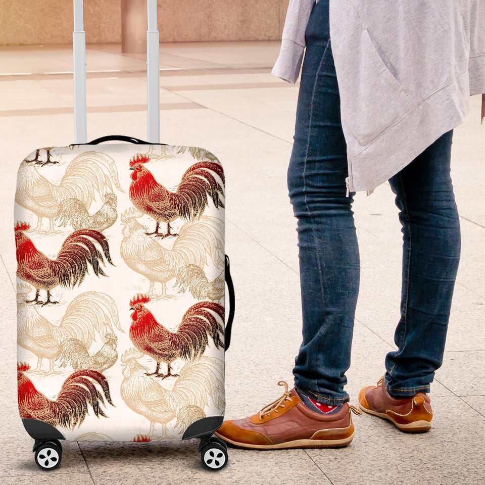 Rooster Chicken Pattern Luggage Covers