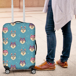 Siberian Husky Head Pattern Luggage Covers