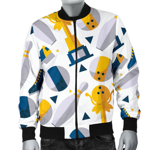 Bowling Ball and Shoes Pattern Men Bomber Jacket
