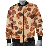 Coffee Bean Pattern Men Bomber Jacket