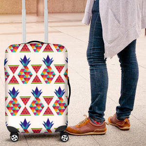 Geometric Pineapple Pattern Luggage Covers
