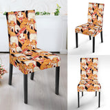 Squirrel Pattern Print Design 04 Dining Chair Slipcover