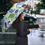 Whale Stripe Dot Pattern Umbrella