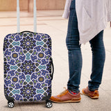 Blue Arabic Morocco Pattern Luggage Covers