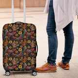 Rooster Chicken Flower Pattern Luggage Covers