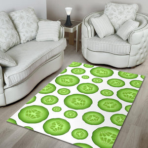 Sliced Cucumber Pattern Area Rug