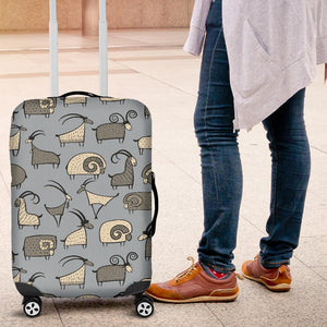 Goat Ram Pattern Luggage Covers
