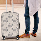 Swan Gray Pattern Luggage Covers