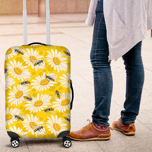 Bee Daisy Pattern Luggage Covers