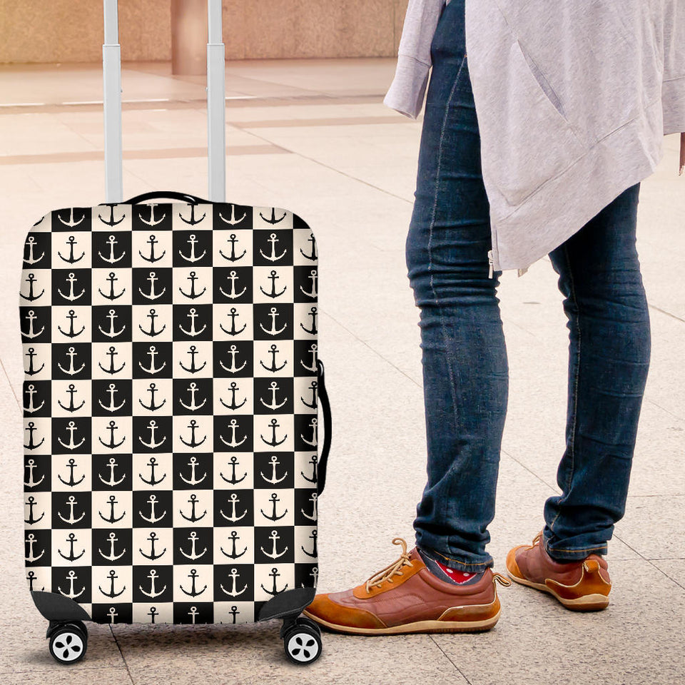Anchor Black and White Patter Luggage Covers