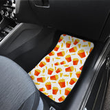 French Fries Pattern Front Car Mats