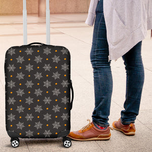 Cobweb Spider Web Pokka Dot Pattern Luggage Covers