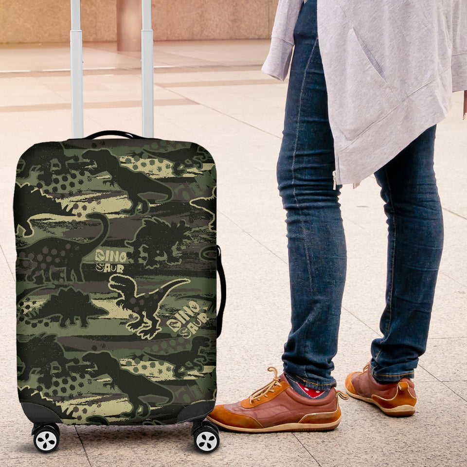 Dinosaur Camo Pattern Luggage Covers