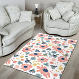 Hand Drawn Bee Pattern Area Rug