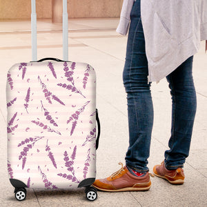 Lavender Pattern Stripe Background Luggage Covers
