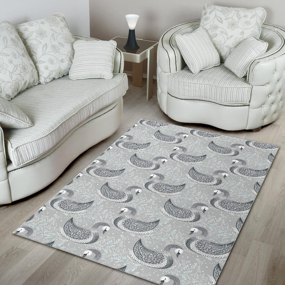 Swan Gray Pattern Area Rug