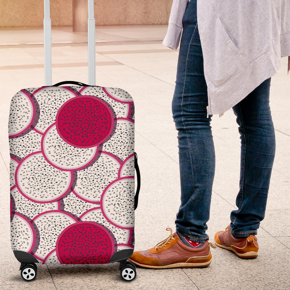 Sliced Dragon Fruit Pattern Luggage Covers