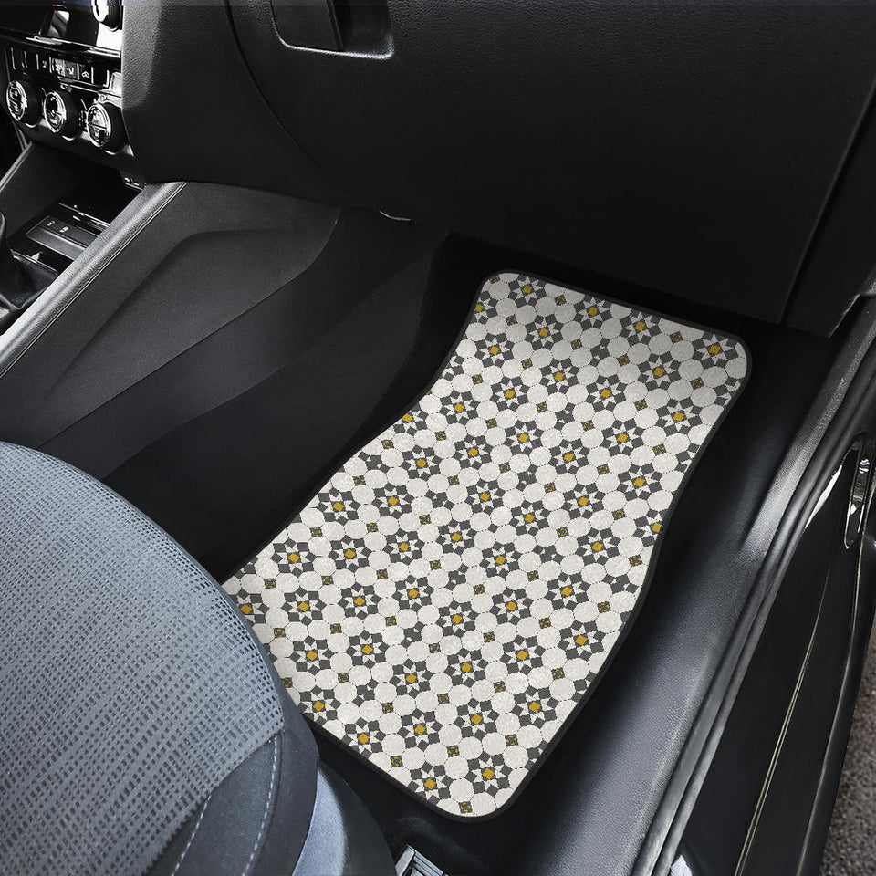 Arabic Morocco Pattern Background Front Car Mats