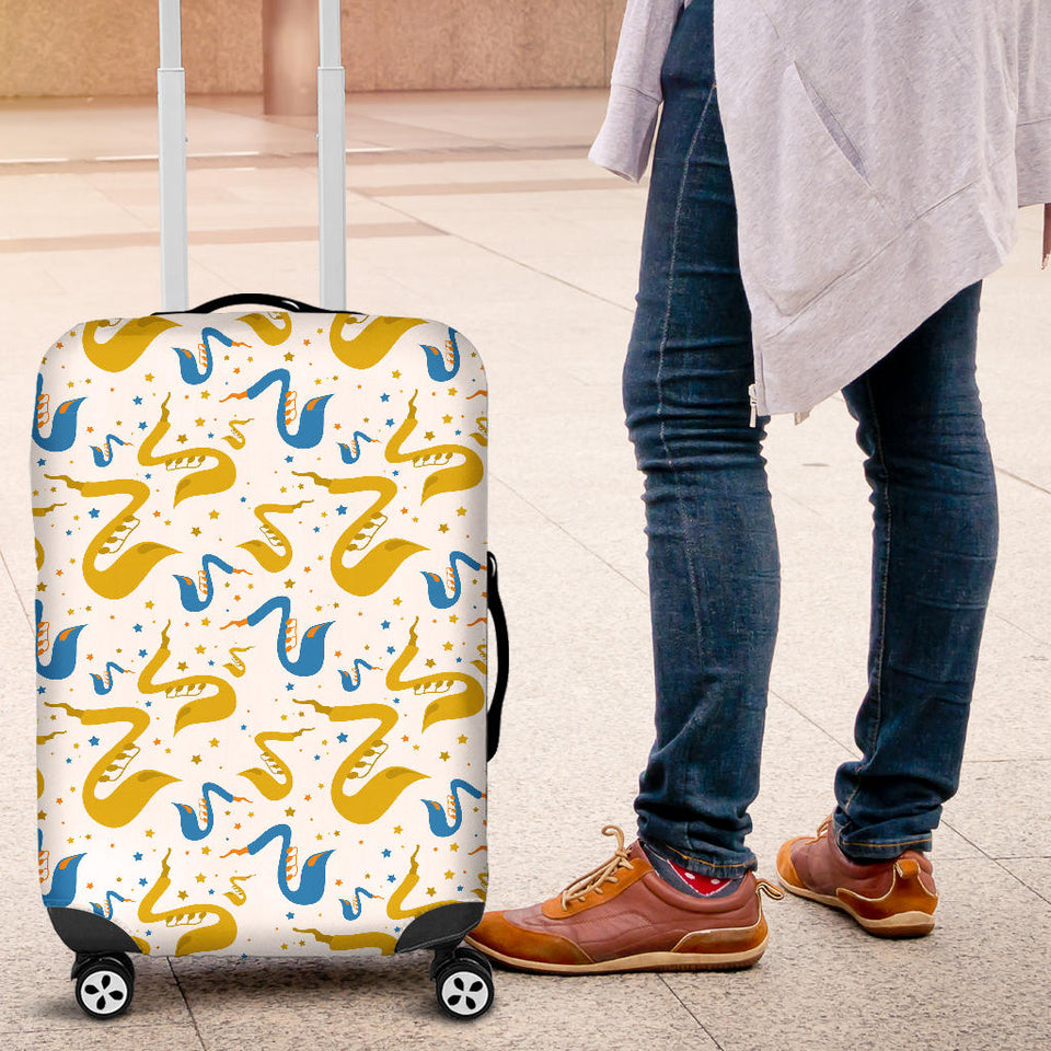 Saxophone Pattern Luggage Covers