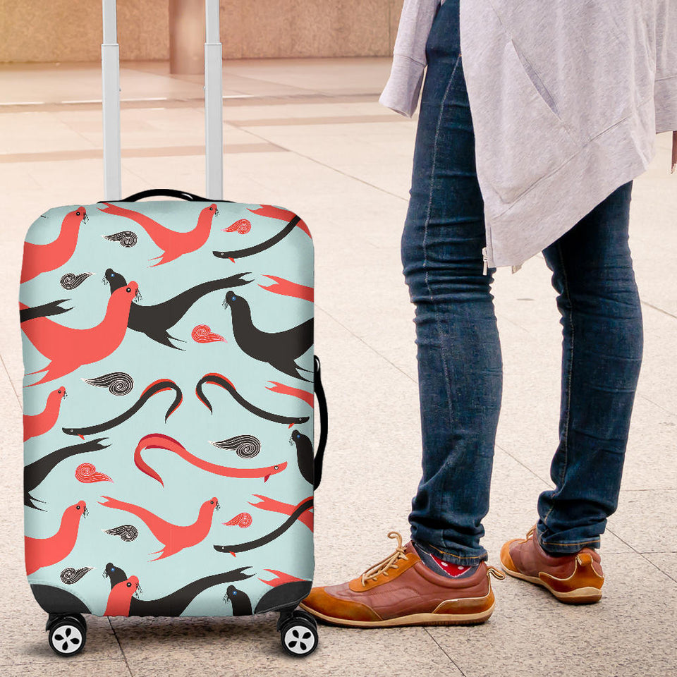 Sea Lion Pattern Theme Luggage Covers